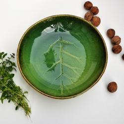 ceramika,patera,misa,misa liść,liść ceramiczny - Ceramika i szkło - Wyposażenie wnętrz