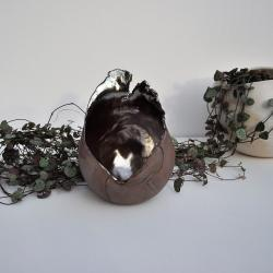 lampion ceramiczny,świecznik,tealight,świeca, - Świeczniki - Wyposażenie wnętrz