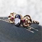 Pierścionki złoty pierścionek z tanzanitem