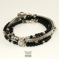 komplet bransolet,srebrna biżuteria męska - Dla mężczyzn - Biżuteria