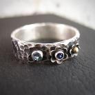 Pierścionki srebrna obrączka z kamieniami