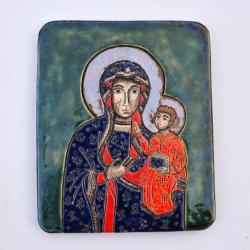 Beata Kmieć,ikona ceramiczna,Maryja - Ceramika i szkło - Wyposażenie wnętrz