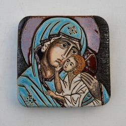 Beata Kmieć,ikona,Maryja,eleusa,ceramika - Ceramika i szkło - Wyposażenie wnętrz