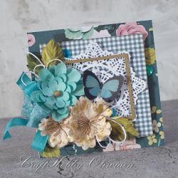 motyl,kwiaty,życzenia,urodziny,rocznica - Kartki okolicznościowe - Akcesoria