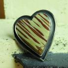 Pierścionki serce,jaspis,pierścionek,hand made,srebro