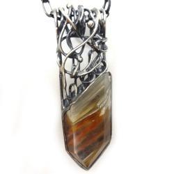 kwarc,srebrny,szarości,srebro,minerały,róż,styl - Wisiory - Biżuteria