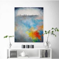 drzewa,obraz,abstrakcja - Obrazy - Wyposażenie wnętrz