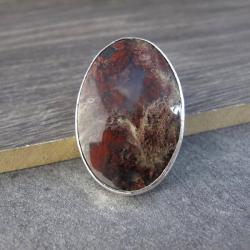 Agat indonezyjski,srebro,widowiskowy wisior - Wisiory - Biżuteria