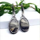 Kolczyki jaspis zebra,srebro