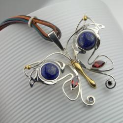 Srebrny motyl - Wisiory - Biżuteria