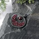 Wisiory srebrny wisior z granatami,prezent na Święta
