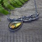 Naszyjniki srebrny,organiczny,złyu,gałązki,labradoryt,natura