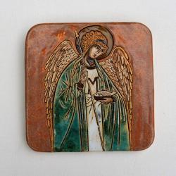 Beata Kmieć,ikona ceramiczna,anioł - Ceramika i szkło - Wyposażenie wnętrz