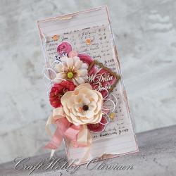 ślub,ślubna,kwiaty,ramka - Kartki okolicznościowe - Akcesoria