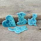 Magnesy na lodówkę ceramika,magnes,kot