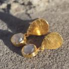 Kolczyki pozłacane kolczyki,sztyfty z kamieniem księżycowym
