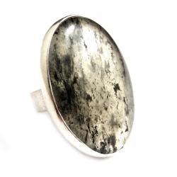turmalin,srebrny,surowy,GoT,szarosci,czerń,retro, - Pierścionki - Biżuteria