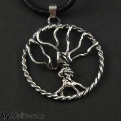 wisior,bajeczny,drzewo,irlandzkie,srebro - Wisiory - Biżuteria