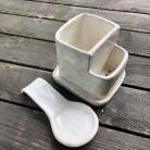 Ceramika i szkło ociekacz,łyżka,ceramiczny
