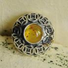 Pierścionki srebro,bursztyn,ażur,pierścionek,arabeski