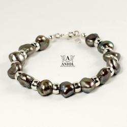 bransoleta damska z pereł,biżuteria z pereł - Bransoletki - Biżuteria