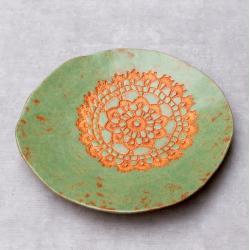 patera,misa,folk,serwetka,rustykalne - Ceramika i szkło - Wyposażenie wnętrz