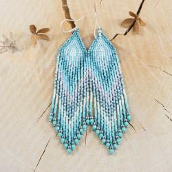 kolczyki indiańskie,kolczyki szklane - Kolczyki - Biżuteria
