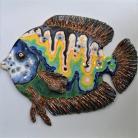 Ceramika i szkło ryba,Beata Kmieć,multicolor,obrazek,ceramika