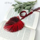 Zakładki do książek lniana zakładka do książki z piórkiem,makrama