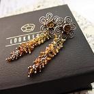 Kolczyki eleganckie kolczyki z turmalinem