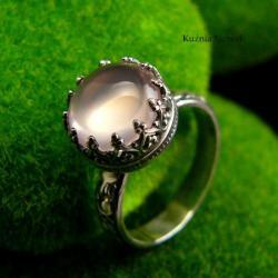 nehesi,pierścionek,srebrny,pierscionek,rosequartz - Pierścionki - Biżuteria