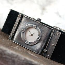 srebrny zegarek - Inne - Biżuteria