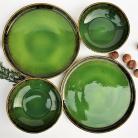 Ceramika i szkło ceramika,talerz,miska,zielona ceramika
