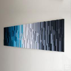 mozaika,zima,kolor,drewno,rękodzieło - Inne - Wyposażenie wnętrz