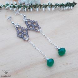 srebro,długie,geometryczne,JewelsbyKT - Kolczyki - Biżuteria