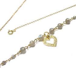 romantyczny,delikatny,serce - Naszyjniki - Biżuteria