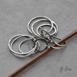 surowe,wiszące kolczyki koła - Kolczyki - Biżuteria