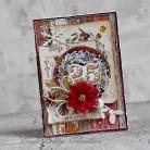 Kartki okolicznościowe boże narodzenie,wieniec,święt,stroik,poinsetti