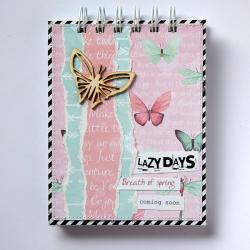 notes,wiosna,motyl,pastele - Notesy - Akcesoria