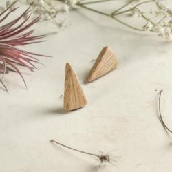 kolczyki,drewniana biżuteria,drewniane kolczyki - Kolczyki - Biżuteria