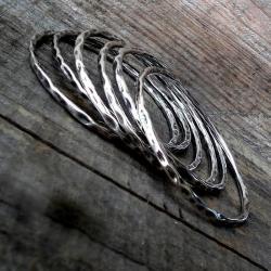 zestwa bransoletek,srebrne,masywne. - Bransoletki - Biżuteria