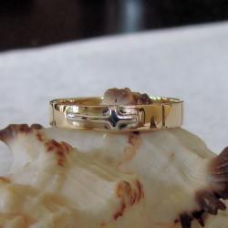 delikatny,subtelny,różaniec,złoty,z grawerem - Dla mężczyzn - Biżuteria