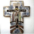 Ceramika i szkło Beata Kmieć,ikona ceramiczna,krzyż,Jezus