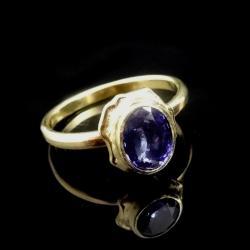 tanzanit,fiołkowy,złoto,blask,retro,fiolet,złoty - Pierścionki - Biżuteria