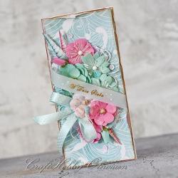 ślub,życzenia,kwiaty,muszelki,ślubna - Kartki okolicznościowe - Akcesoria