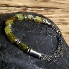 Bransoletki bransoletka oksydowana,zielony granat Grossular
