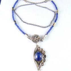 naszyjnik z tanzanitem - Naszyjniki - Biżuteria