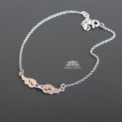 skrzydła,bransoletka,anielskie,srebrne,aniagrys - Bransoletki - Biżuteria