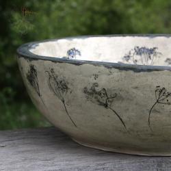 umywalka,ceramika,rękodzieło,natura - Ceramika i szkło - Wyposażenie wnętrz