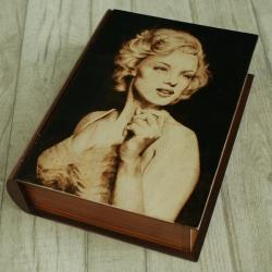 marilyn monroe,kobieta,wypalanie - Pudełka - Wyposażenie wnętrz